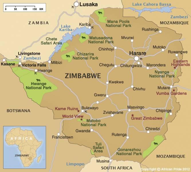 Great Zimbabwe World Map.Zimbabwe Safari Holidays Luxury Breaks African Pride