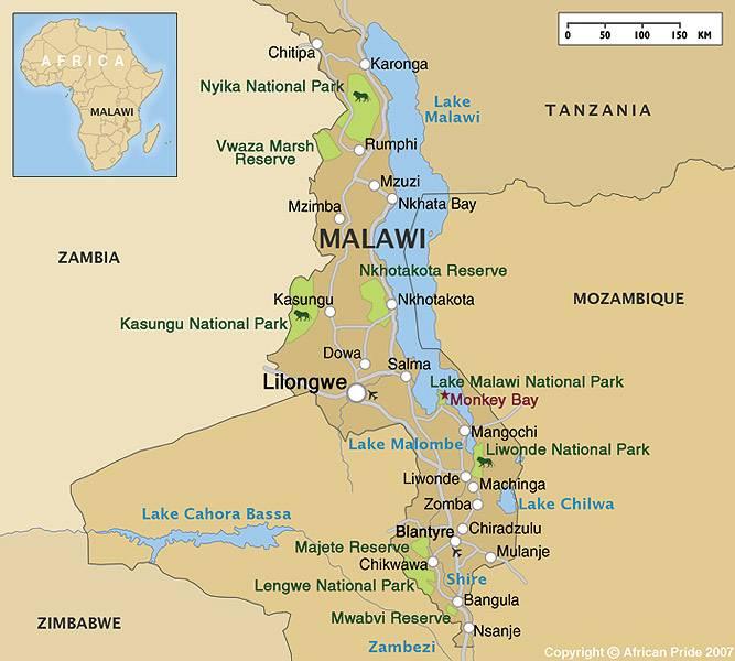 Malawi On Africa Map.Malawi Safari Holidays Luxury Breaks African Pride
