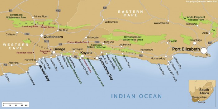 Garden route african pride - Cape town to port elizabeth itinerary ...