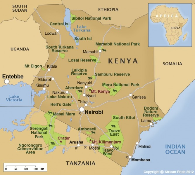 Where Is Mount Kilimanjaro On A Map Of Africa.Amboseli National Park African Pride